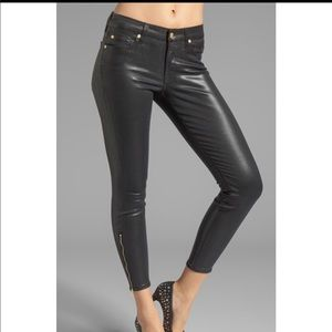7 For All Mankind The Cropped Skinny w/ Ankle Zip